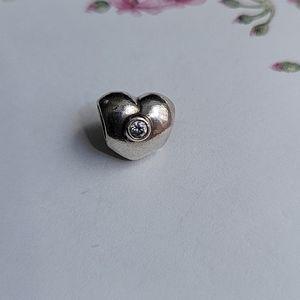 Pandora Heart bead with CZ